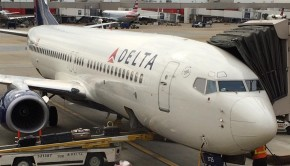 Delta Air Lines Boeing 737, ready to fly from Atlanta to Panama City, Panama.