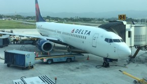 Delta Air Lines Boeing 737 at Panama City Tocumen International Airport.