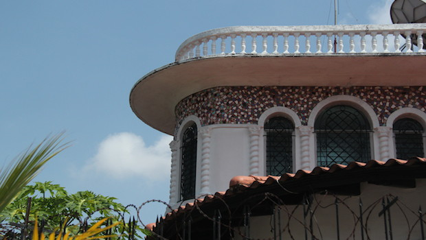 Beautiful residential architecture of Colon, Panama.