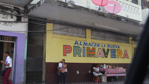 Colorful signage in Colon, Panama.
