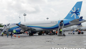 Interjet Airbus A320 at Mexico City airport.