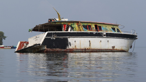 This abandoned ship once belonged to an Australian crime family.