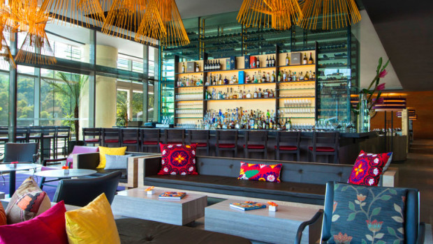 J&G Grill Lounge restaurant at St. Regis Mexico City.
