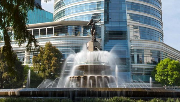 Diana La Cazadora fountain, in front of at St. Regis Mexico City.