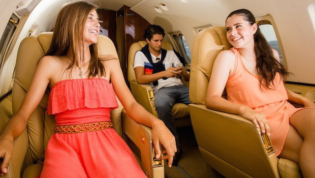 "Private jet transport, part of the ""Billionaire Birthday"" deal for teens at Grand Velas Resorts in Mexico."