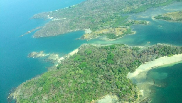 Flying to Isla Contadora offers great views of Panama's Pearl islands.