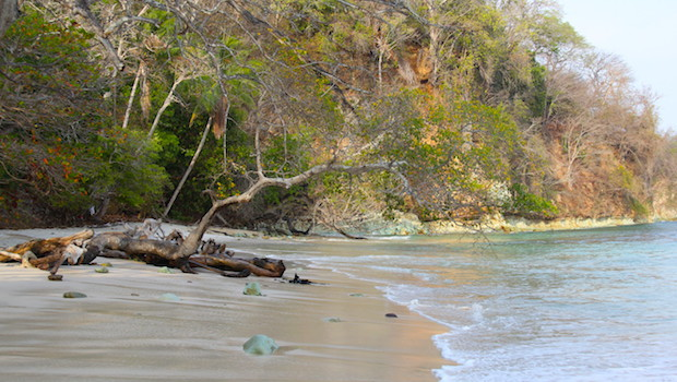 Playa Sueca, a nudist beach on Isla Contadora, Panama.