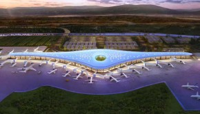 Futuristic new terminal at Tocumen airport in Panama City, Panama.