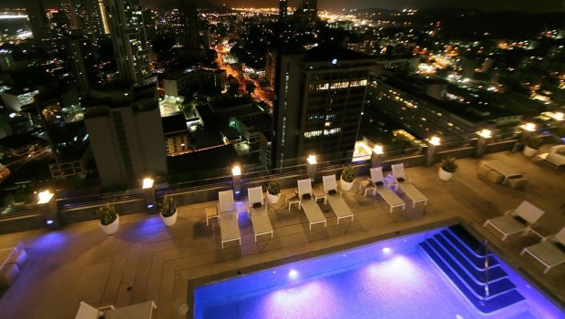Rooftop pool at Royal Sonesta Panama hotel in Panama City.