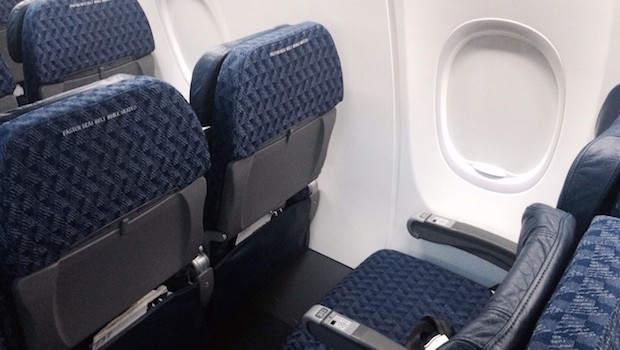 Economy Class Airline Seating On American Airlines Boeing 737