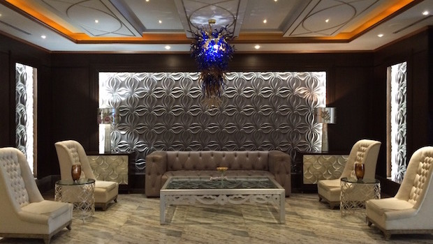 Lobby decor at Royal Sonesta Panama hotel.