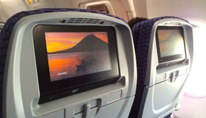 In-flight entertainment on the Copa Airlines Boeing 737-800.