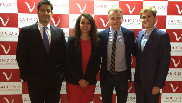 Executives from Wyndham, AccorHotels and Hilton joined Mark Chesnut at SAHIC.