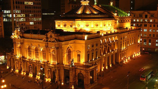 Theatro Municipal in São Paulo, Brazil. Photo: Jefferson Pancieri/ SPTuris.