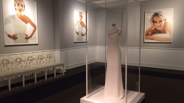 The Princess Diana exhibit at the Mario Testino Museum in Lima, Peru.