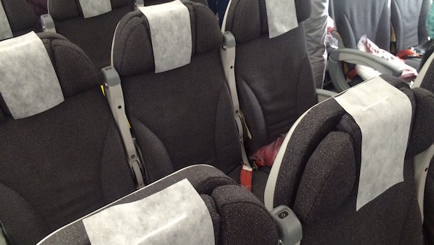 Economy class airline seating on Avianca Boeing 787 Dreamliner.