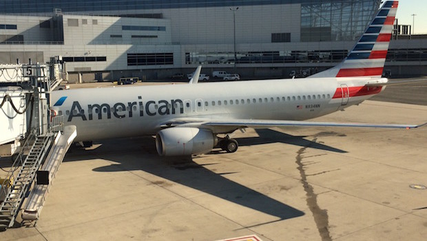 American Airlines Boeing 737 at JFK airport.