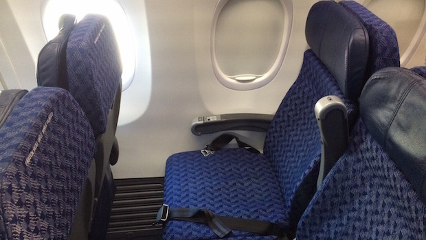 Airline seating on American Airlines Boeing 737.