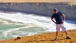 Mo Noubani of The Travel Box International at Paracas Natural Reserve in Peru.