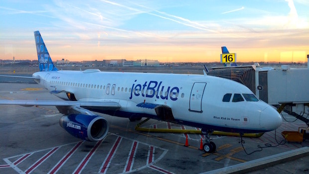 JetBlue Airbus A320 at JFK airport in New York City.