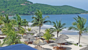 La Ropa Beach at Viceroy Zihuatanejo, in Mexico.