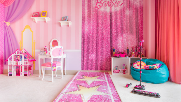 Decor at the Barbie Room at Hilton Panama is perfect for the doll herself.