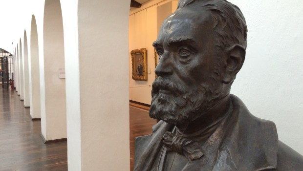 Sculpture of Colombian president Rafael Nunez at the National Museum.