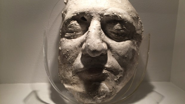 Death mask of Jorge Eliécer Gaitán at National Museum in Bogota.