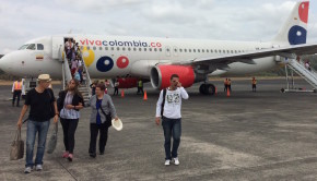 VivaColombia Airbus A320 at Panama Pacifico International Airport.