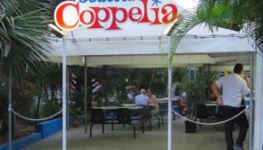 Coppelia is the most famous ice cream shop in Havana, Cuba.
