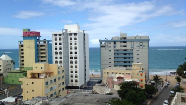 San Juan view from room at Best Western Plus Condado Palm Inn & Suites.