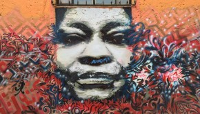 Street art on the Bogota Graffiti Tour in Colombia.