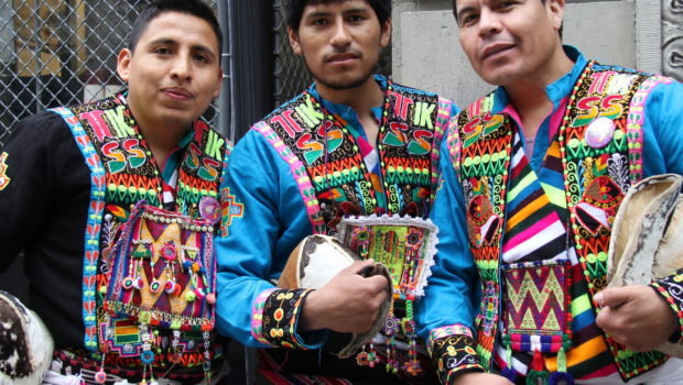 Tinku Bolivian dancers at the New York City Dance Parade.