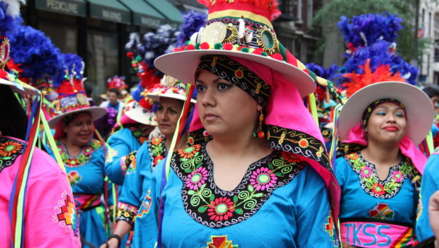 Tinku Bolivian clothing at the New York City Dance Parade.