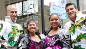 Bolivian dancers took the streets during the NYC Dance Parade.