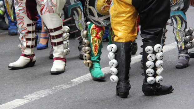 Shoes worn by Caporales Bolivian dancers.