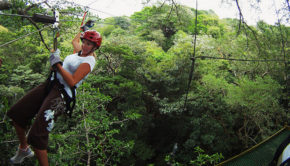 Zip lining in Costa Rica. Photo: John Yavuz Can