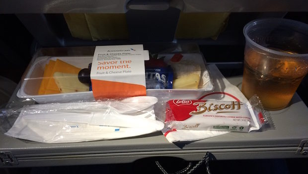 Airline food sold on American Airlines Cancun flights.