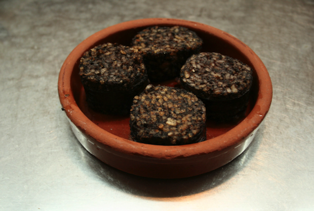 Morcilla — blood sausage — is a popular Latin food.
