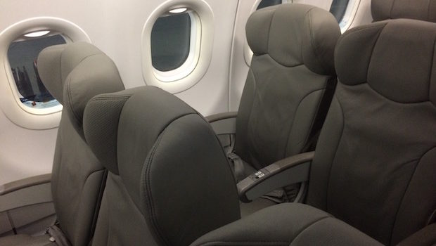Airline seating on the Interjet Airbus A320.