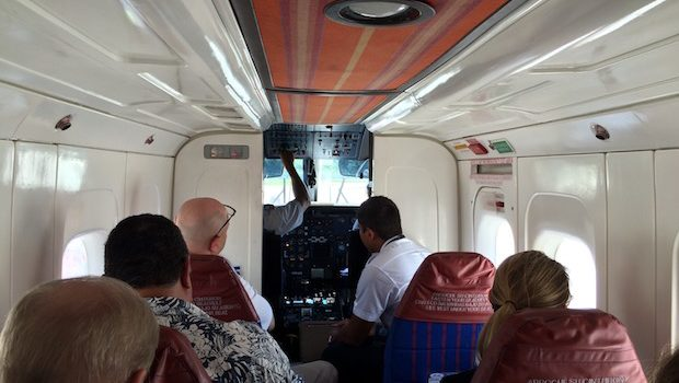 Interior of MAYAir Dornier 228 aircraft.