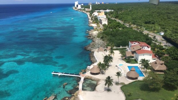 About to land at Cozumel on MAYAir flight.