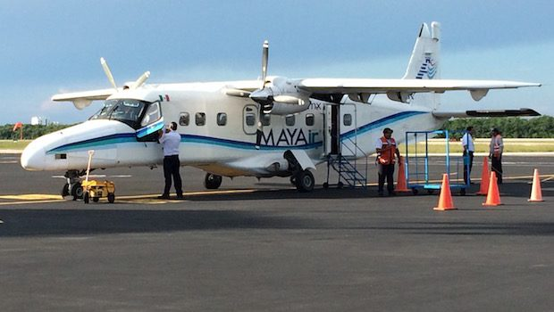 MAYAir Dornier 228 at Cozumel International Airport.