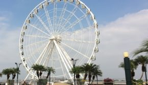 La Perla is a big observation wheel on the waterfront in Guayaquil, Ecuador.
