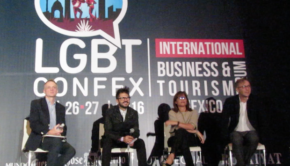 Hotel trends panel at LGBT Confex, Mexico's biggest such conference.