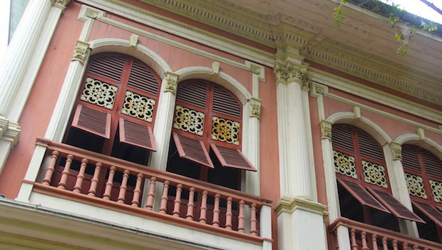 Turn-of-the-century architecture at Guayaquil's Parque Histórico.