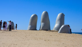 The Hand is a sculpture by a Chilean artist in Punta del Este, Uruguay.