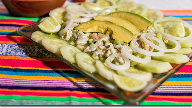 Aguachiles are a tasty shrimp dish in Mexico's Riviera Nayarit.