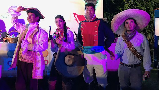 Traditional costumes at the Tianguis Turistico cocktail event.