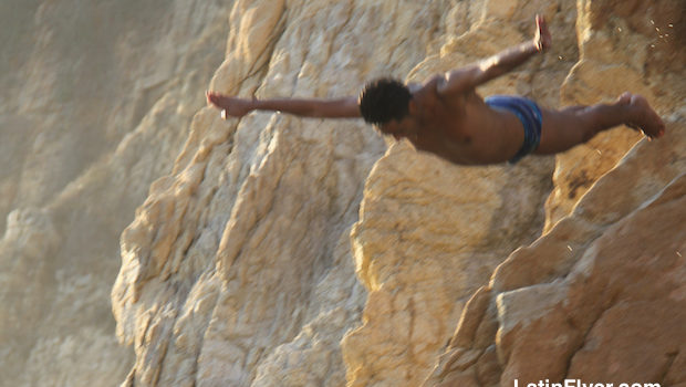 Mid-air, every second counts for the Acapulco cliff divers.